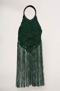 Zöld casual rojtos táska béléssel
