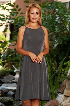 Szürke StarShinerS casual hétköznapi rövid harang ruha