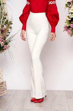 Fehér elegáns hosszú bő szabású nadrág