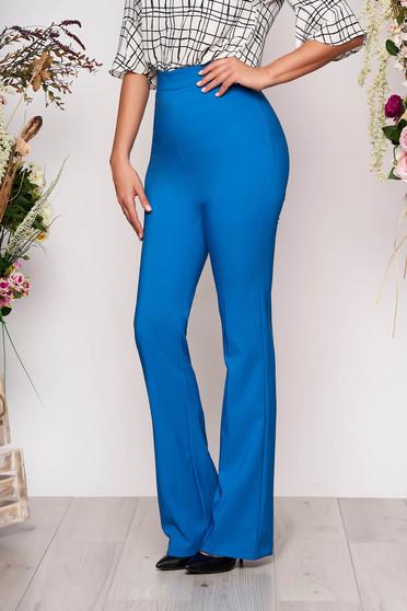 Kék elegáns hosszú bő szabású nadrág