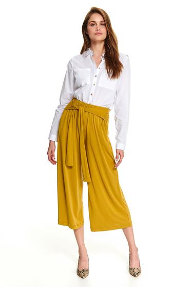 Fehér elegáns elöl zsebes rövid bő szabású női ing hosszú ujjakkal