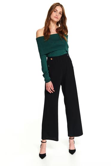 Zöld casual rövid szűk szabású pulóver hosszú ujjakkal