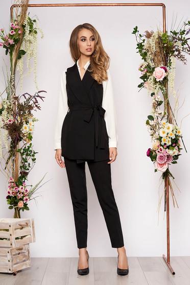 Fekete két részes női kosztüm nadrággal