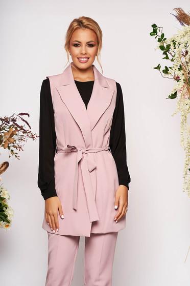 Világos rózsaszín két részes női kosztüm nadrággal