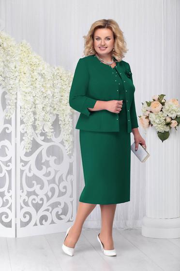 Zöld elegáns két részes női kosztüm