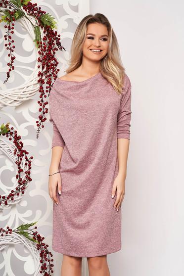 StarShinerS pink bő szabású ruha kötött anyagból