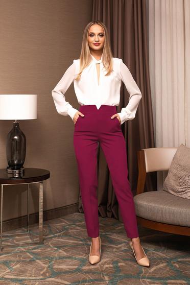 Elegáns hosszú kónikus magas derekú nadrág