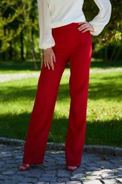 Piros StarShinerS hosszú bővülő elegáns nadrág szövetből rugalmas anyagból