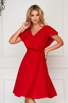 Piros StarShinerS harang ruha fodrokkal a dekoltázs vonalánál