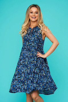 Kék casual bő szabású ruha