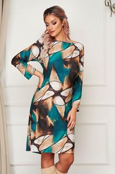 Barna StarShinerS ruha rövid hétköznapi egyenes lycra bélés nélkül