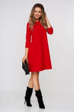 Piros hétköznapi bő szabású rövid StarShinerS ruha rugalmas anyagból