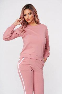 Pink két részes casual sportos szettek pamutból készült
