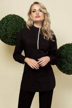 Fekete női ing elegáns hosszú bő szabású vékony szövetből
