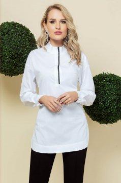 Fehér női ing elegáns hosszú bő szabású vékony szövetből