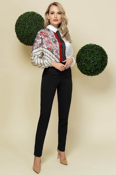 Irodai magas derekú kónikus fekete nadrág enyhén rugalmas anyagból