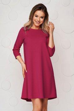 Málna-piros bő szabású rövid StarShinerS ruha rugalmas anyagból