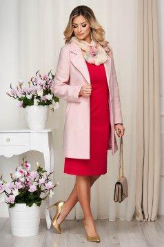 Pink egyenes rövid kabát finom tapintásu anyagból