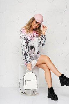 Pink női blúz v-dekoltázzsal finom tapintásu és rugalmas anyagból