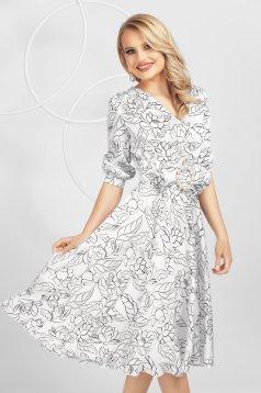 Fehér harang ruha szaténból béléssel masni díszítéssel