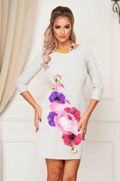 Ivoire StarShinerS virágmintás rövid egyenes ruha
