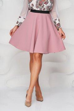 Púder rózsaszínű StarShinerS gumírozott derekú harang szoknya