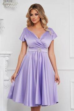 Lila harang ruha midi elegáns