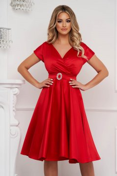 Piros harang ruha midi elegáns
