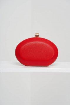 Alkalmi piros táska műbőrből