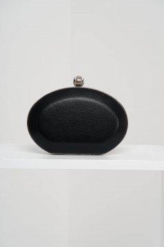 Alkalmi fekete táska műbőrből