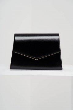 Fekete táska alkalmi műbőrből