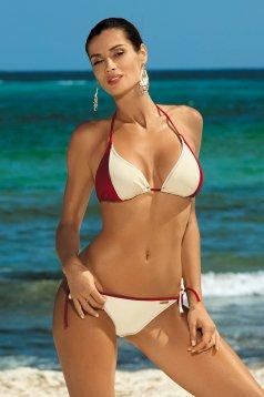 Két részes krémszínű fürdőruha normál bikinialsó