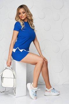 Kék sportos szettek pamutból készült női rövidnadrág női póló