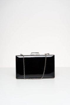 Fekete lakkozott öko bőr alkalmi táska
