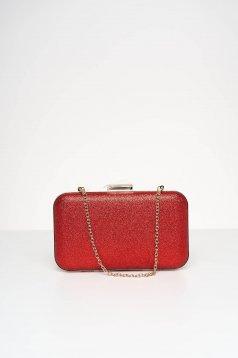 Piros táska alkalmi csillogó díszítések